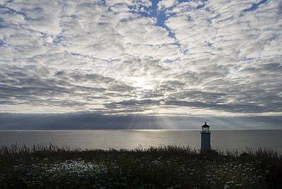 Photograph - Lighthouse At Cape Disappointment by Robert Potts
