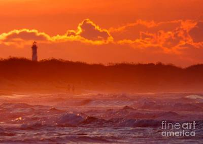 Photograph - Lighthouse At Dawn by Jean Wright
