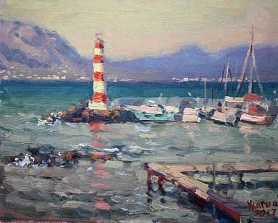 Lighthouse At Dilesi Harbor Greece Original