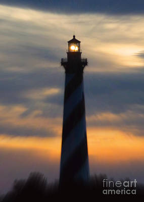 Photograph - Hatteras Light At Dusk by Jean Wright