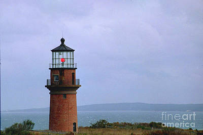 Lighthouse At Dusk- Marthas Vinyard Art Print