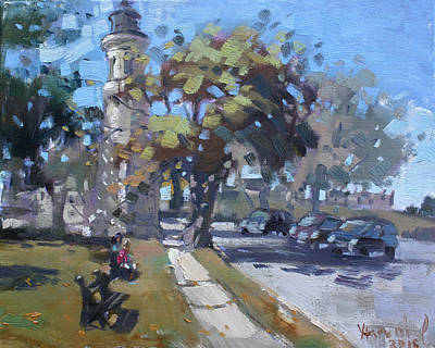 Lighthouse Painting - Lighthouse At Fort Niagara by Ylli Haruni