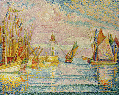 Architectural Painting - Lighthouse At Groix by Paul Signac