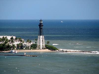 Lighthouse At Hillsboro Beach, Florida Art Print