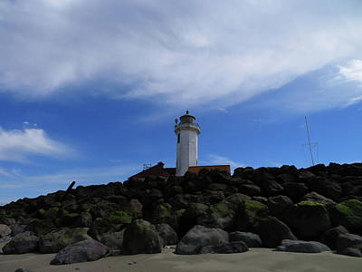 Photograph - Lighthouse At Hudson Point - Port Townsend by Marie Jamieson