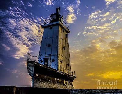 Photograph - Lighthouse At Ludington by Nick Zelinsky
