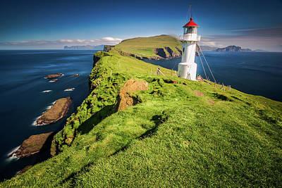 Lighthouse At Mykines Faroe Islands Art Print