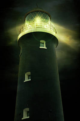 Photograph - Lighthouse At Night by Ethiriel Photography