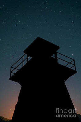 Photograph - Lighthouse At Night Prince Edward Island by Edward Fielding