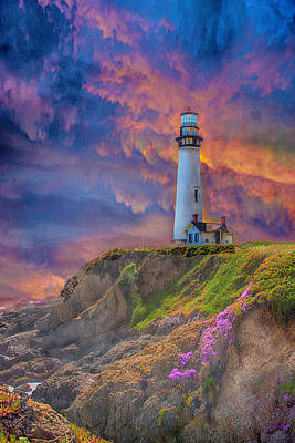 Photograph - Lighthouse At Pigeon Point by Patricia Dennis