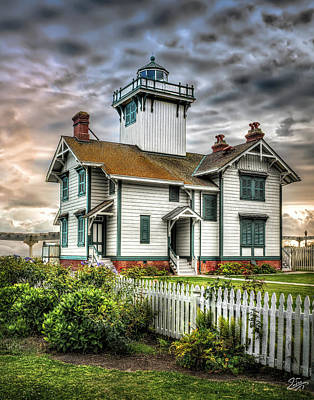 Photograph - Lighthouse At Point Fermin by Endre Balogh