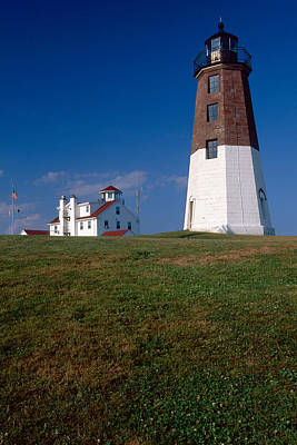 Keepers House Photograph - Lighthouse At Point Judith  by George Oze