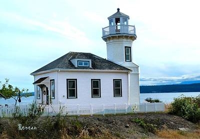 Photograph - Lighthouse At Port Townsend, Washington by Sadie Reneau