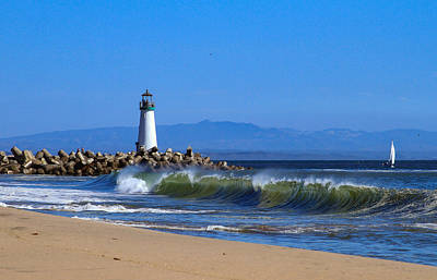 Photograph - Lighthouse At Seabright Beach by Bonnie Follett