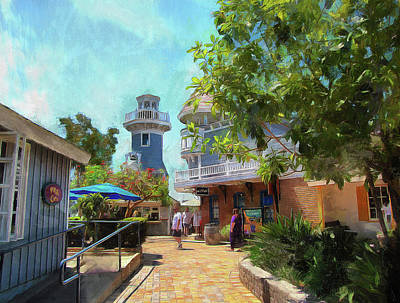 Lighthouse At Seaport Village Art Print