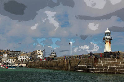 Photograph - Lighthouse At St Ives England by Tom Conway
