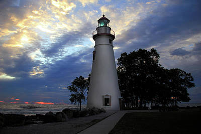 Photograph - Lighthouse At Sunrise by Angela Murdock