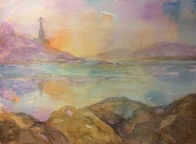 Painting - Lighthouse At Sunrise  by Ellen Levinson