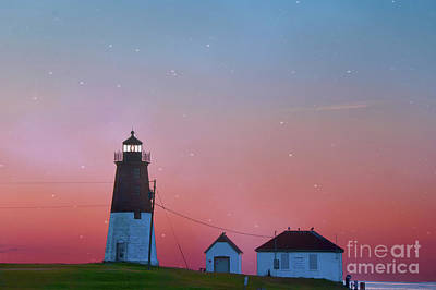 Narragansett Photograph -  Lighthouse At Sunrise by Juli Scalzi