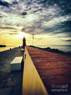 Photograph - Lighthouse At Sunset by Silvia Ganora