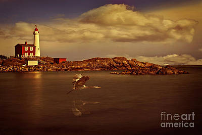 Photograph - Lighthouse At Sunset by Von McKnelly