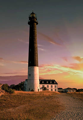 Photograph - Lighthouse At The Sunset by Jaroslaw Blaminsky