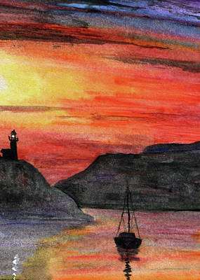 Painting - Lighthouse Bay by R Kyllo