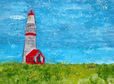 Lighthouse Beacon Original by Colleen Casner