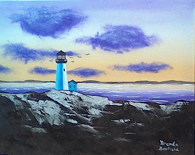 Painting - Lighthouse by Brenda Bonfield