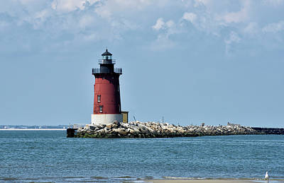 Photograph - Delaware Breakwater East End Lighthouse - Lewes Delaware by Brendan Reals