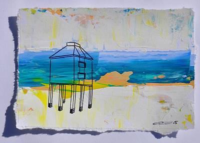 Painting - Lighthouse Burnham Blue by Eduard Meinema