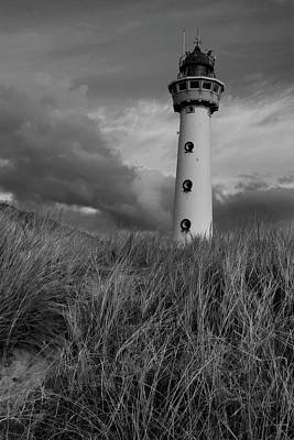 Photograph - Lighthouse Bw by Mihaela Pater