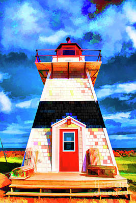 Digital Art - Lighthouse By The Sea by Rick Bragan