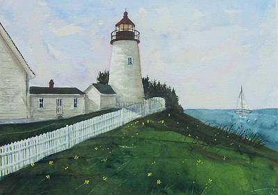 Lighthouse Calm Art Print