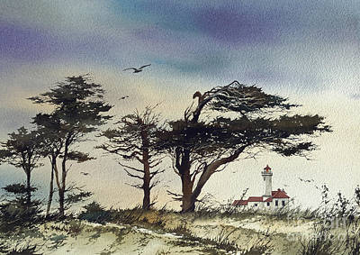 Art Print featuring the painting Lighthouse Coast by James Williamson