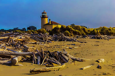 Coquille River Lighthouse Photograph - Lighthouse Coquille River by Garry Gay