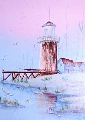 Painting - Lighthouse by Denise Fulmer
