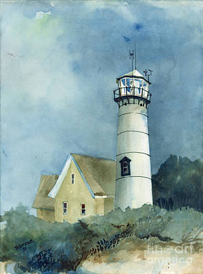 Chatham Painting - Lighthouse by Dennis Drews