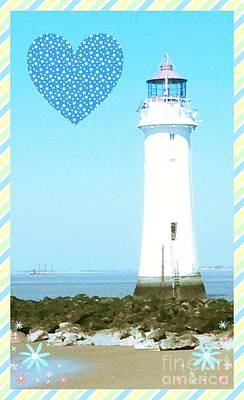 Photograph - Lighthouse Design by Joan-Violet Stretch