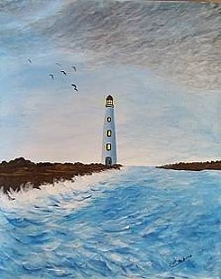 Painting - Lighthouse by Dianne Scheerer Gibson
