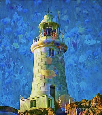 Digital Art - Lighthouse Fantasy 2015 by Kathryn Strick