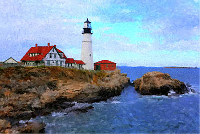 Painting - Lighthouse by Gary Grayson