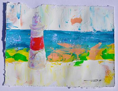 Painting - Lighthouse Gibraltar by Eduard Meinema