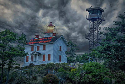 Photograph - Lighthouse Greetings by Bill Posner