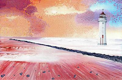 Wall Art - Painting - Lighthouse by Hayley Buchanan