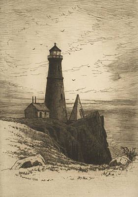Relief - Lighthouse by Henry Farrer