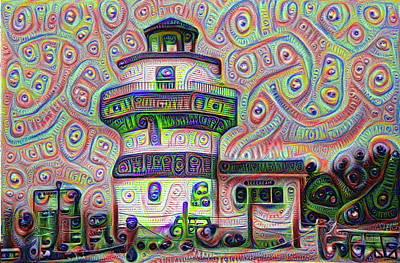 Digital Art - Lighthouse Ice Cream Shop - Wildwood Crest by Bill Cannon