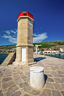 Photograph - Lighthouse In Adriatic Town Of Senj by Brch Photography