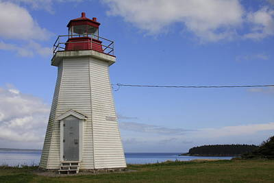 Photograph - Lighthouse In Gabarus, Nova Scotia by Tatiana Travelways