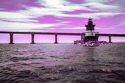 Photograph - Lighthouse In Infrared From A Boat by Brian Hale